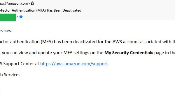 AWS root account MFA Deactivate 02
